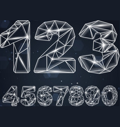 Constellation Geometric Numbers vector image vector image