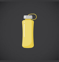 fitness bottle flat icon vector image vector image