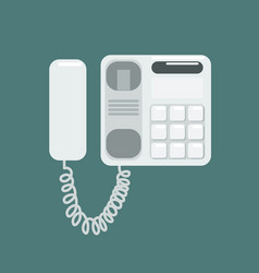 flat telephone vector image vector image