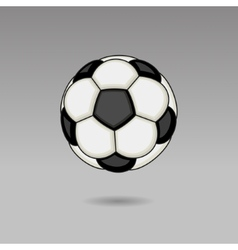 Football ball on light background vector