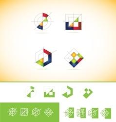 Geometric abstract logo icon vector