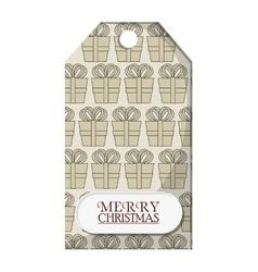 Gift label of christmas season design vector