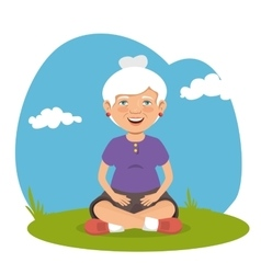 grandmother with sport clothes vector image vector image
