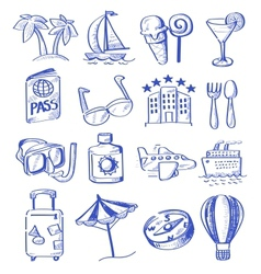 Hand draw travel vector