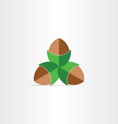 hazelnuts flat icon design vector image
