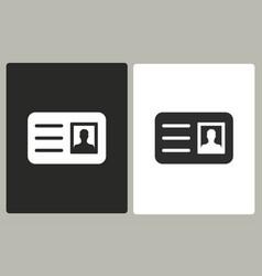 Identification card - icon vector
