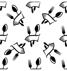 Kitchen cutlery symbols seamless pattern vector image vector image