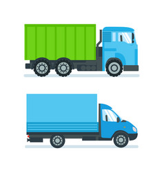 lorry for transportation of goods resources vector image vector image