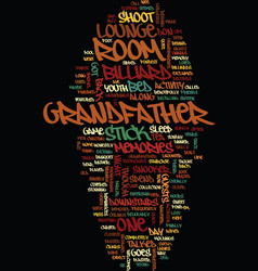 Memories of grandfather s billiard room text vector