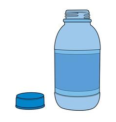 Motor Oil Plastic Bottle vector image vector image