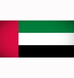 National flag of the United Arab Emirates vector image