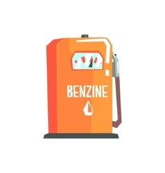 Petrol station fuel filling item cool colorful vector