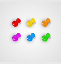 Pushpin all kinds of color vector