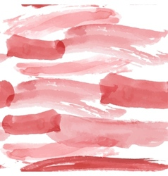 Red brush strokes seamless pattern on a white vector image