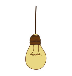 Silhouette of beige light bulb pendant vector