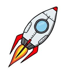 Space rocket Cartoon vector image