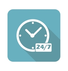 Square overnight daily workhours icon vector