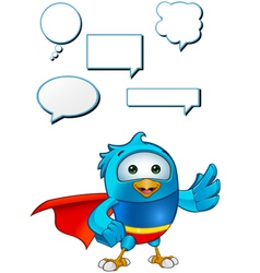 Super Blue Bird Presnting vector image vector image
