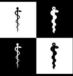 Symbol of the medicine black and white vector