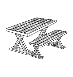 Table for restbbq single icon in outline style vector