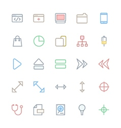 User Interface Colored Line Icons 19 vector image vector image