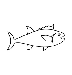Fish animal aquatic icon vector