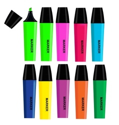 Highlighters isolated on white background vector