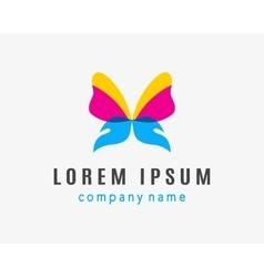 Butterfly company logo vector image