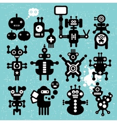 Monsters and robots collection 21 vector