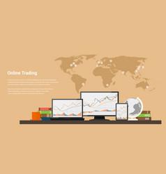 Stock trading online vector
