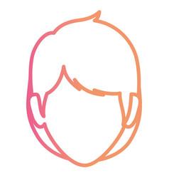 Beautiful woman head avatar character vector