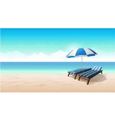 Landscape beach background vector