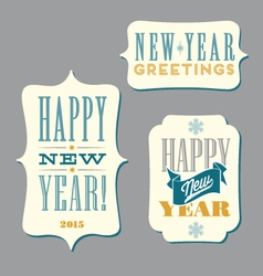 Happy new year typography designs vector