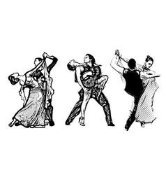 Classical dance trio vector