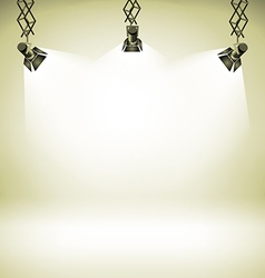 Spot light abstract club gallery theater interior vector