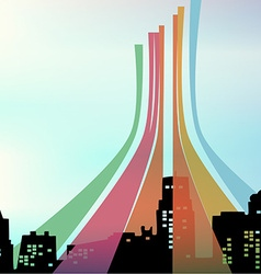 Color in the city vector