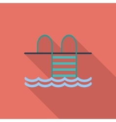 Pool flat icon vector