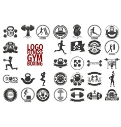 Fitnes gym boxing logo vector