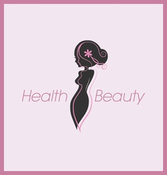 Silhouette woman body logo vector