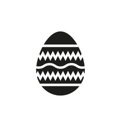 The egg icon easter symbol vector
