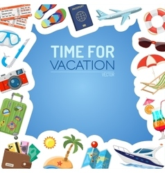 Vacation and tourism concept vector