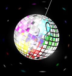 abstract colored disco ball vector image vector image