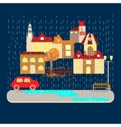 Autumn weather banner vector