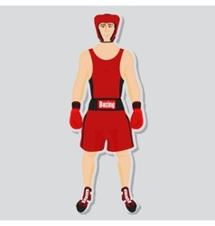 Boxing fighter vector