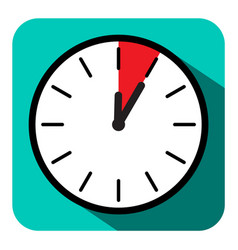clock icon retro flat design five minutes symbol vector image vector image