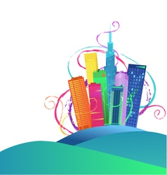 Colorful cityscape vector image