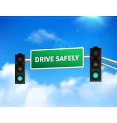 Drive safely memorial sign sticker icon vector