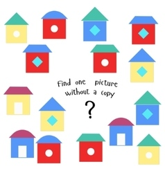 Educational game find picture without copy vector
