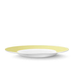 empty yellow plate isolated on white background vector image