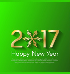 Golden new year 2017 concept on green background vector